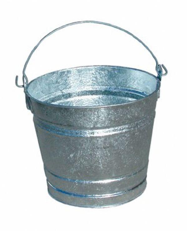 Magnolia brush 2qt galvanized mini pail bar code 70004 for Galvanized metal buckets small