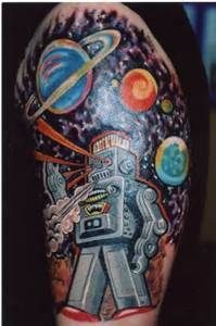 Image result for Robby the robot tattoo