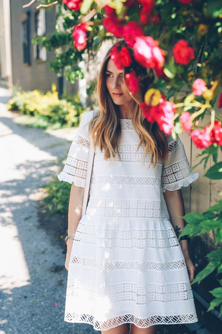 Image VIa: Prosecco & Plaid in the Clarimond Lace Dress