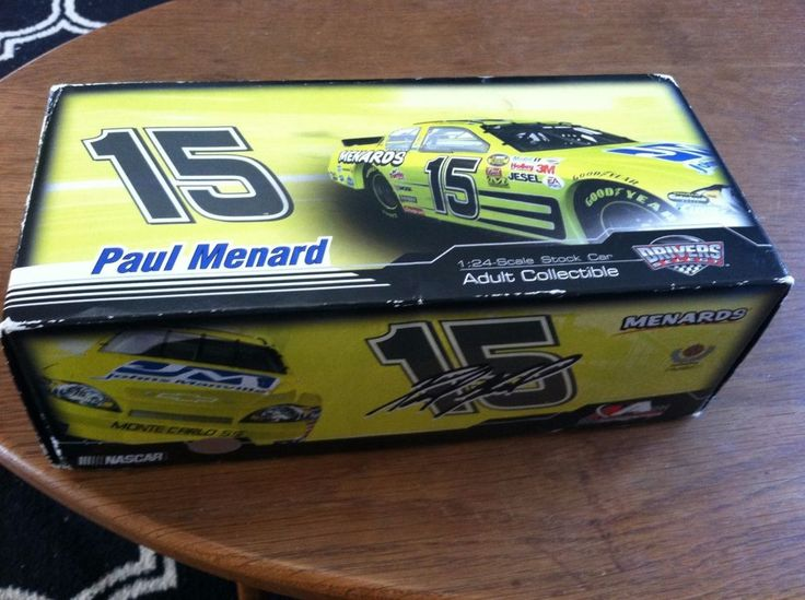 Rare #15 PAUL MENARD MENARD'S 2007 MONTE CARLO SS 1:24 DIE-CAST  #Action #Chevrolet