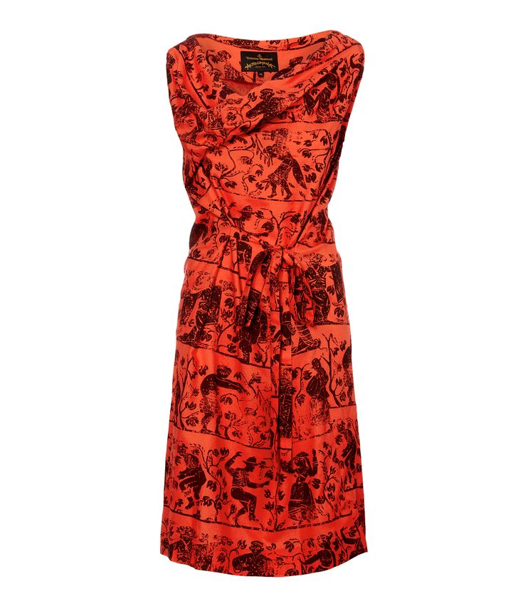 Flame Twisted Dress #SS16