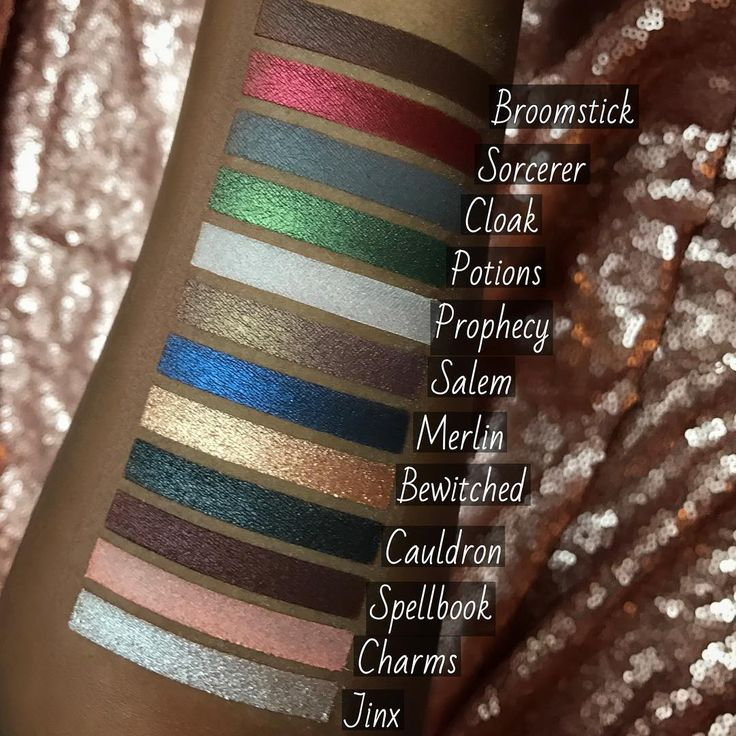 Preview Swatches Of The 'Harry Potter'-Inspired Palette From Storybook Cosmetics
