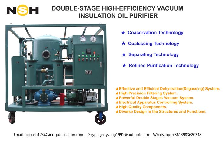 High Efficiency Double-Stage Vacuum Transformer Oil Purifier  Sino-NSH can be your trustworthy supplier with over 20 years of producing experience in this field.  We can prove it's a right decision if you choose us.  Any interest or question please feel free to contact me!  Jerry Yang  Whatsapp:+8613983620348  Skype:jerryyang1991@outlook.com  Email:sinonsh123@sino-purification.com  www.nshoilpurifier.com