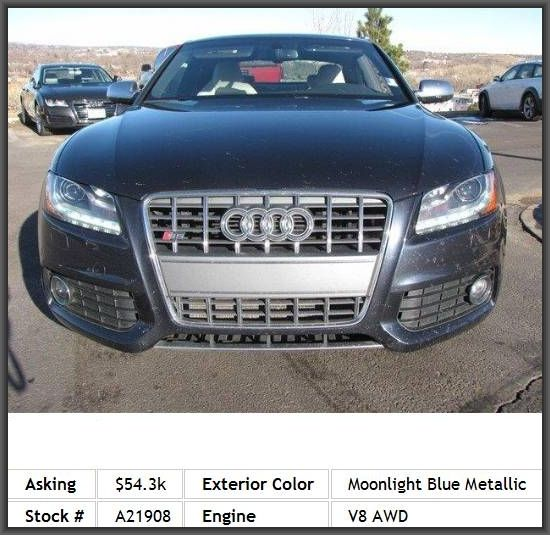 2012 Audi S5 4 2 Quattro Premium Plus Coupe Leather Seats Panoramic
