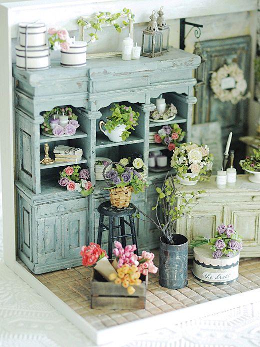 miniature* Flower*3 : natural色の生活~handmade家具