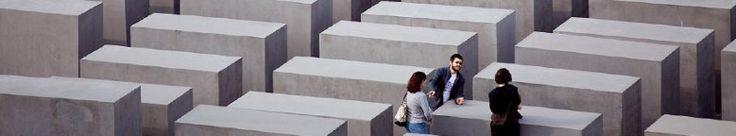 Holocaust Memorial - New York architect Peter Eisenman's haunting field of concrete pillars.        Cora-Berliner-Straße 1    Berlin, Germany    TEL: 49 030 2639-4336    Email: besucherservice@stiftung-denkmal.de