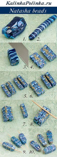 Natasha beads ~ Polymer Clay picture Tutorials