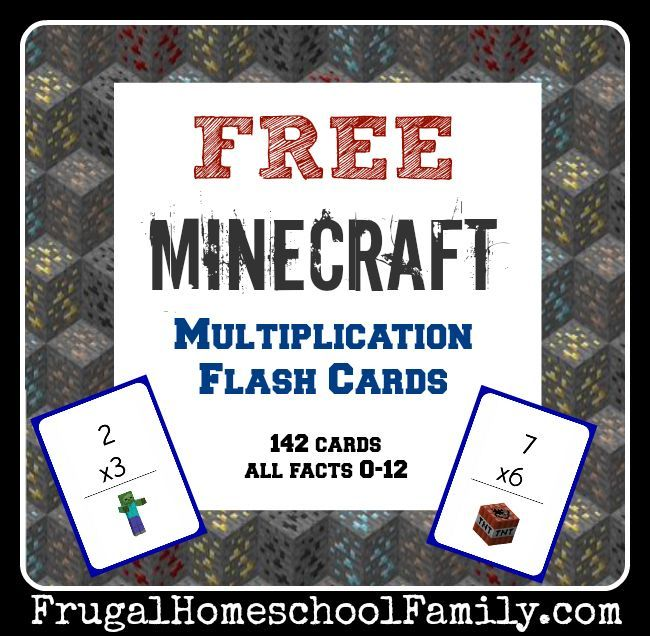 free minecraft multiplication flash cards family life math multiplication math classroom. Black Bedroom Furniture Sets. Home Design Ideas