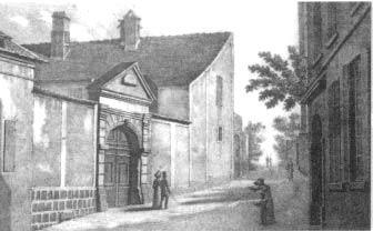 Château-Thierry (Picardie, France) / Maison natale de Jean de la Fontaine, après 1820. La tourelle a disparu, la porte cochère est encore là.