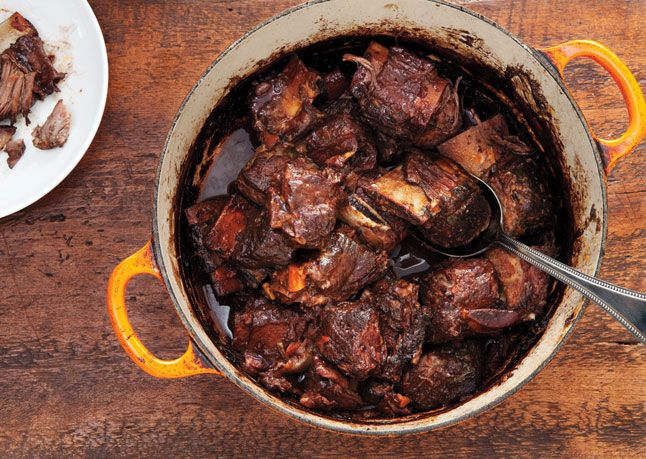 // Red Wine-Braised Short Ribs