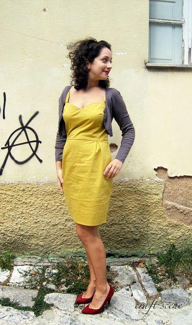 Mustard dress!