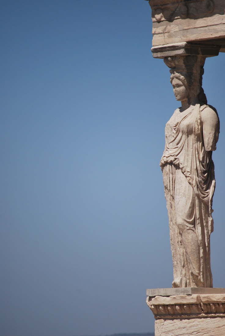 All the female statues that serve as columns in the porch of the Erechtheion are replicas. Five of the originals were removed for display in the Acropolis Museum to protect them from the air pollution of Athens; the sixth was looted by Elgin.