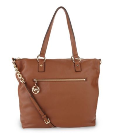 cheap michael kors outlet sale bxy0  MICHAEL Michael Kors Fulton Large North-South Tote in Luggage Tan
