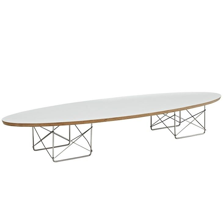 LexMod - Surfboard Coffee Table in White