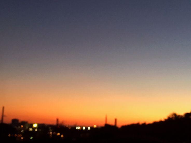秋の夕暮れ @横浜