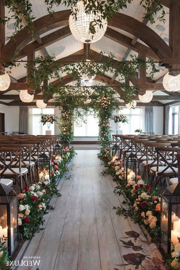 Top 20 Rustic Indoor Wedding Arches And Aisle Ideas For Ceremony Roses Rings Wedding Aisle Decorations Indoor Wedding Ceremonies Indoor Wedding