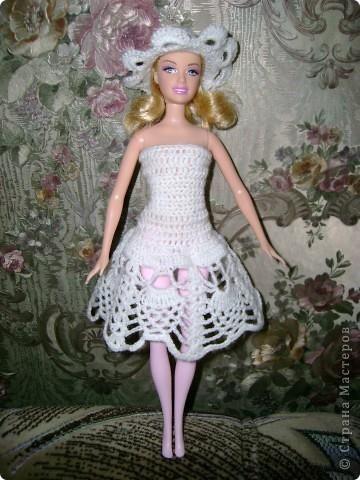 Вязаное платье для барби своими руками