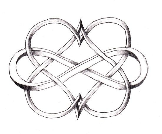 Possibly for ring finger tattoo.  Celtic infinity heart tattoo - Google Search