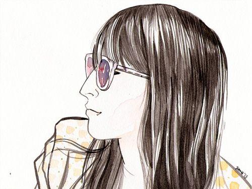 A watercolor portrait for my friend Su. * Su * watercolor + drawing ink * Joana Ray 2013