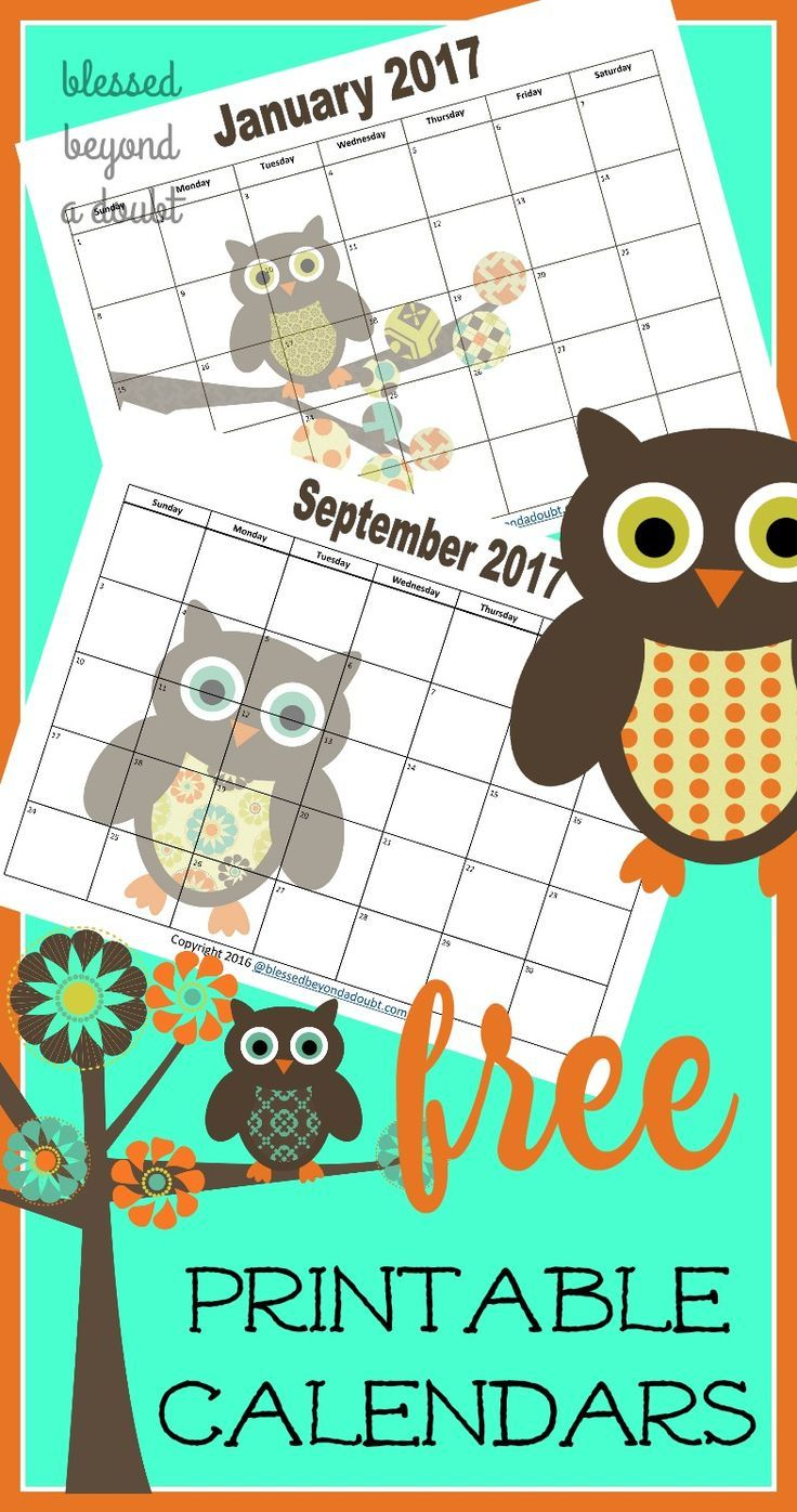free 2020 monthly printable calendars