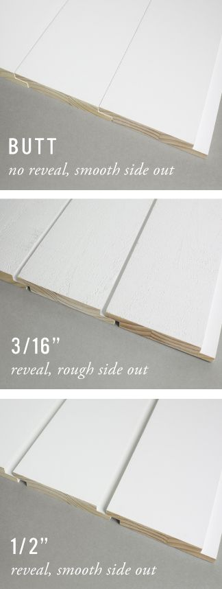 "Choose your reveal; install with up to a 1/2"" gap between boards. WindsorONE Shiplap can be installed vertically or horizontally on walls. It's also reversible, smooth on one side and rough sawn on the other; Shiplap boards provide a variety of options to highlight your work. #shiplap #windsorone"
