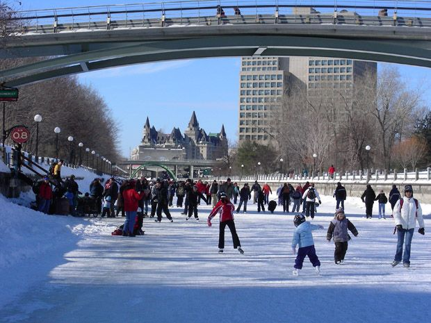Top skating rink in the world: Ottawa, Canada!