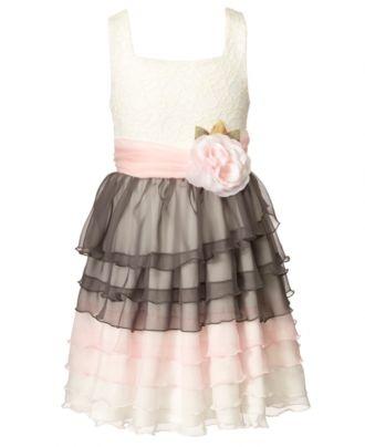 For Grace & Penny:   Bonnie Jean Kids Dress, Girls Ruffle and Flower Dress - Kids Dresses - Macy's