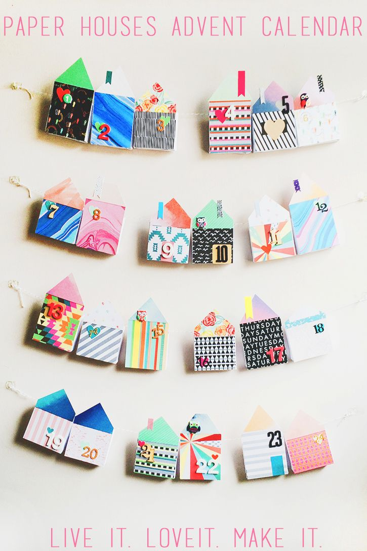 168 best craft advent images on pinterest christmas crafts how to make a paper houses advent calendar jeuxipadfo Image collections