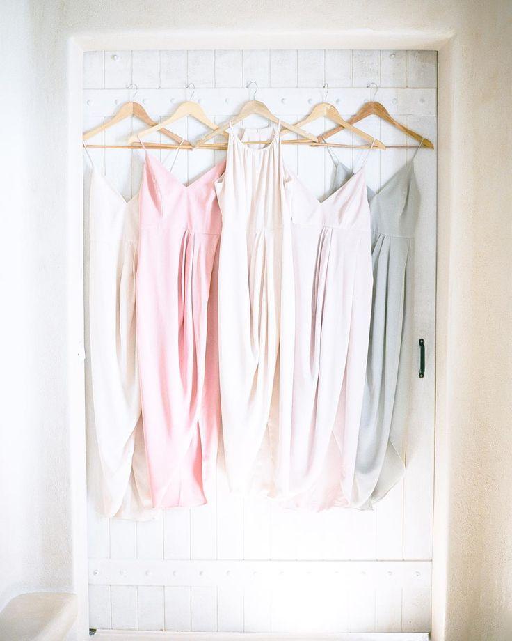 Soft colour pallette - Santorini Wedding