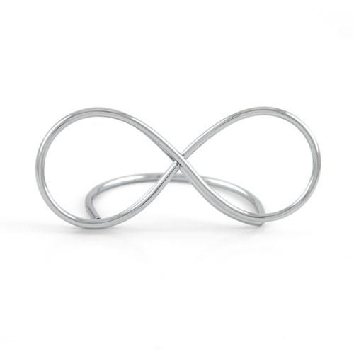 silver infinity symbol wedding place card holder
