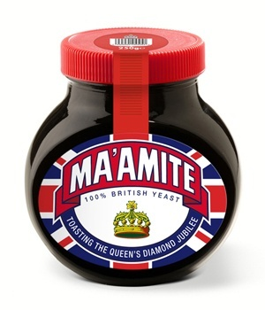 Diamond Jubilee Marmite! For all my favourite royalists.
