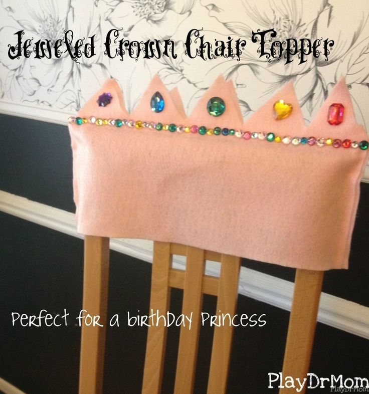 Jeweled Crown Chair Topper ... perfect for a birthday princess