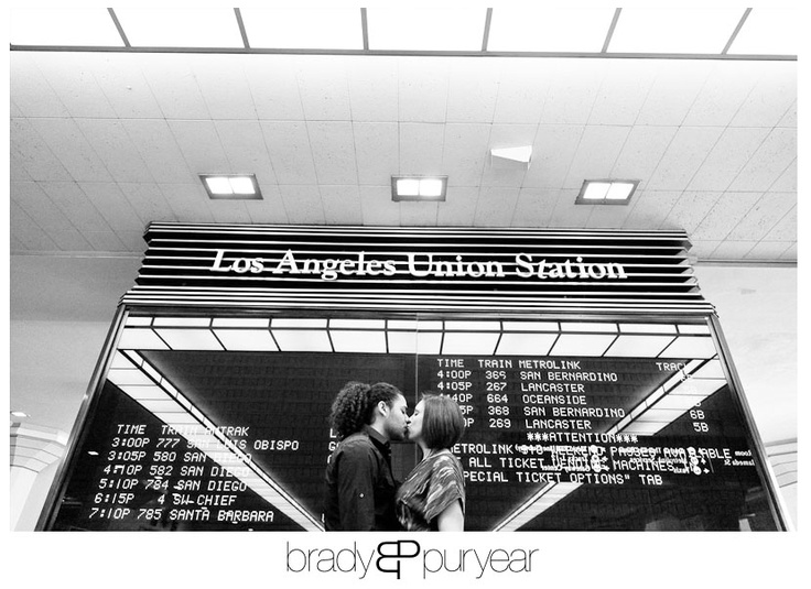 Union Station Downtown LA ~ http://www.bradypuryearblog.com/2012/02/los-angeles-engagement-ashley-logan/