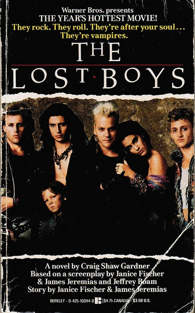 """""""Woo-Hoo! I just acquired this in the Spring -- Been trying to get a copy of this since 1990! How happy am I?!  Pic: The Lost Boys Novelization"""""""