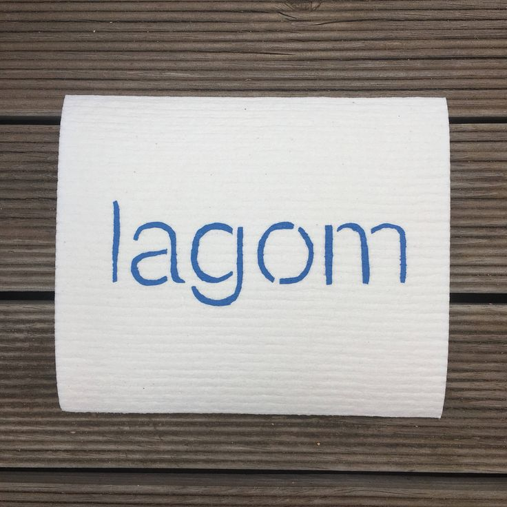 Lagom design- hand screen printed Swedish Dishcloth by susielottadesigns on Etsy https://www.etsy.com/au/listing/567678307/lagom-design-hand-screen-printed-swedish