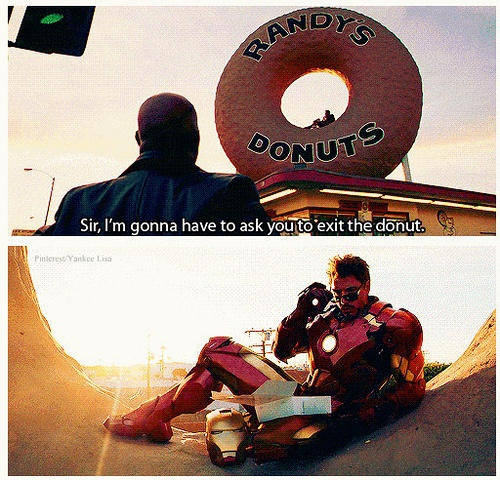 Sir, I'm gonna have to ask you to exit the donut