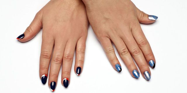 Broncos+vs.+Panthers:+Chic+Nail+Art+for+the+Super+Bowl+Showdown  - HarpersBAZAAR.com