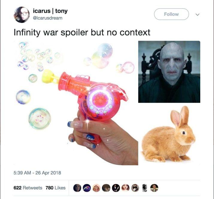 17 Devastating Avengers Infinity War Spoilers Presented With Zero Context Infinity War Avengers Marvel Memes