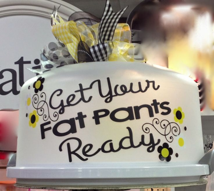Cake Carrier - Get Your Fat Pants Ready - TDY Designs