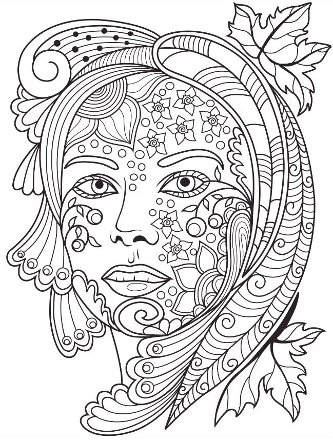 Beautiful Faces Coloring Page