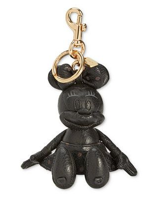 db5847d1d Shop COACH Minnie Mouse Doll Bag Charm online at Macys.com. A plump Minnie  Mouse charm in refined pebble leather hangs from shiny hardware on this ...