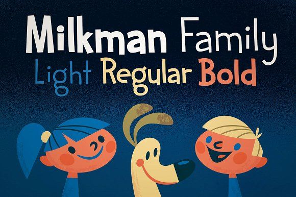 Sale! Milkman Family by Haäfe & Haph on @creativemarket