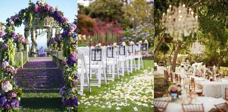 Decorazioni per le nozze all'aperto