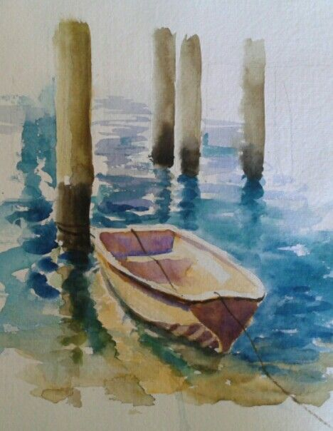 Mooloolaba, watercolour, Evan Jones