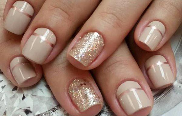Diseños de uñas naturales sencillos, diseño uñas naturales vistosas. Clic Follow, Join to CLUB! #diseñatusuñas #decoratednails #uñasconbrillos