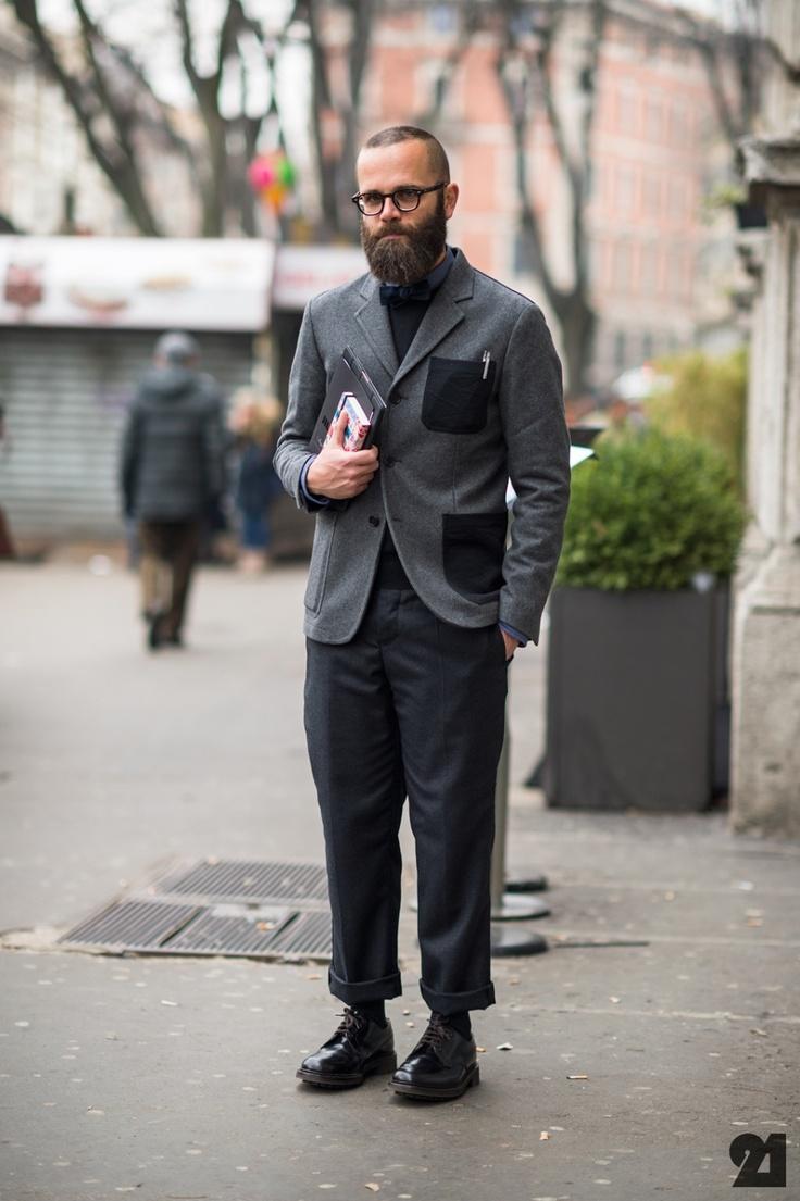 Italian Writer Man Street Style