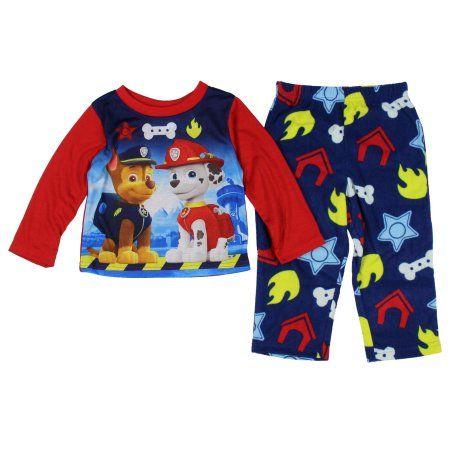 Nickelodeon Paw Patrol Baby Toddler Boy Long Sleeve Pajama Sleepwear Set, Red