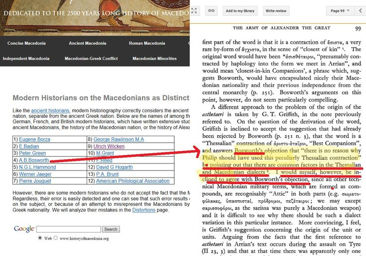 The lies promoted by the propaganda site historyofmacedonia.org - Misrepresentation of A.B. Bosworth