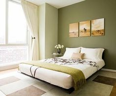 Wall color olive green relaxes the senses and fights against daily stress