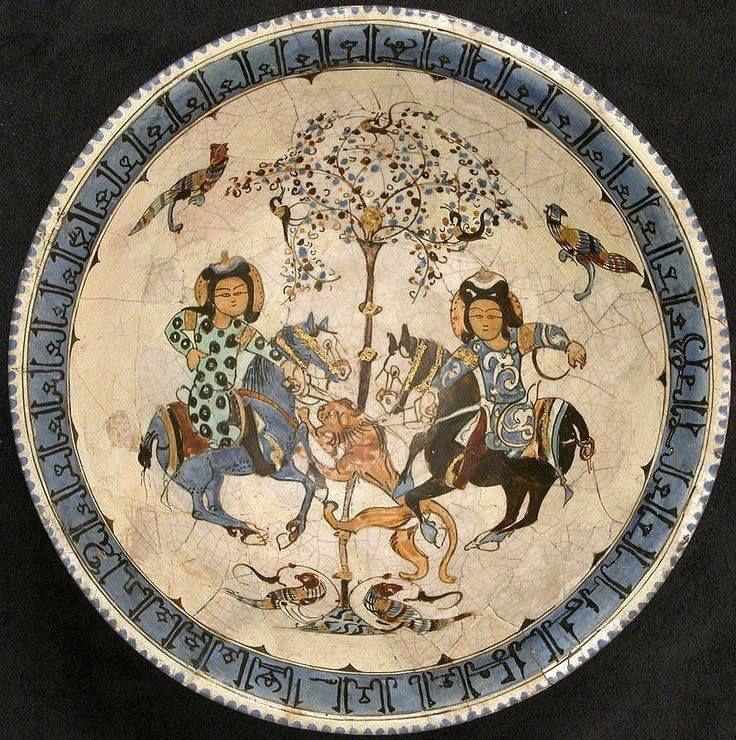 Iran, Kashan, Minai bowl,12th-13th century.